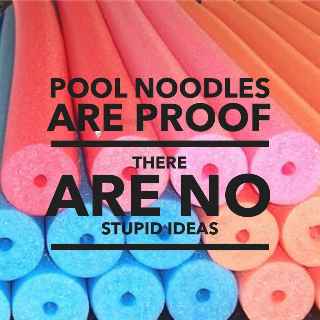 no stupid ideas