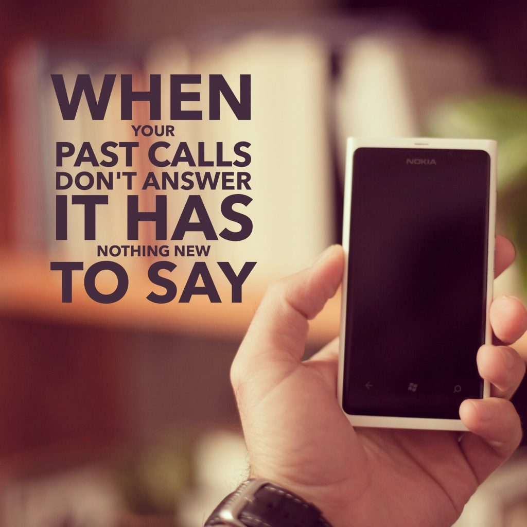 When your past calls don't answer it has nothing new to say.
