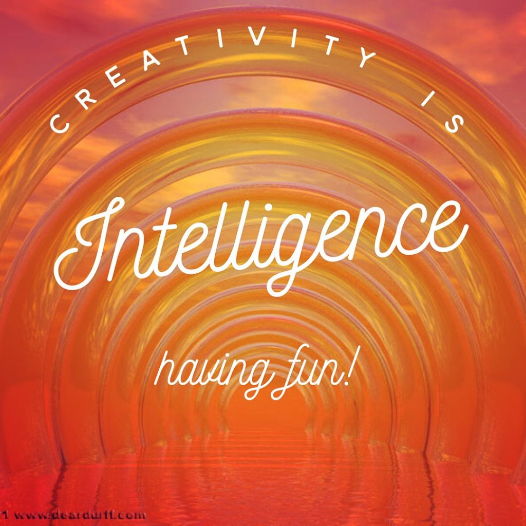 Creativity is intelligence