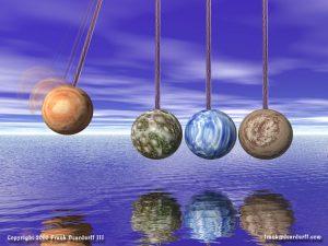 Newton's Cradle - Planets