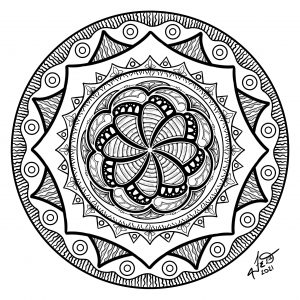 Circles And Swirls Doodle
