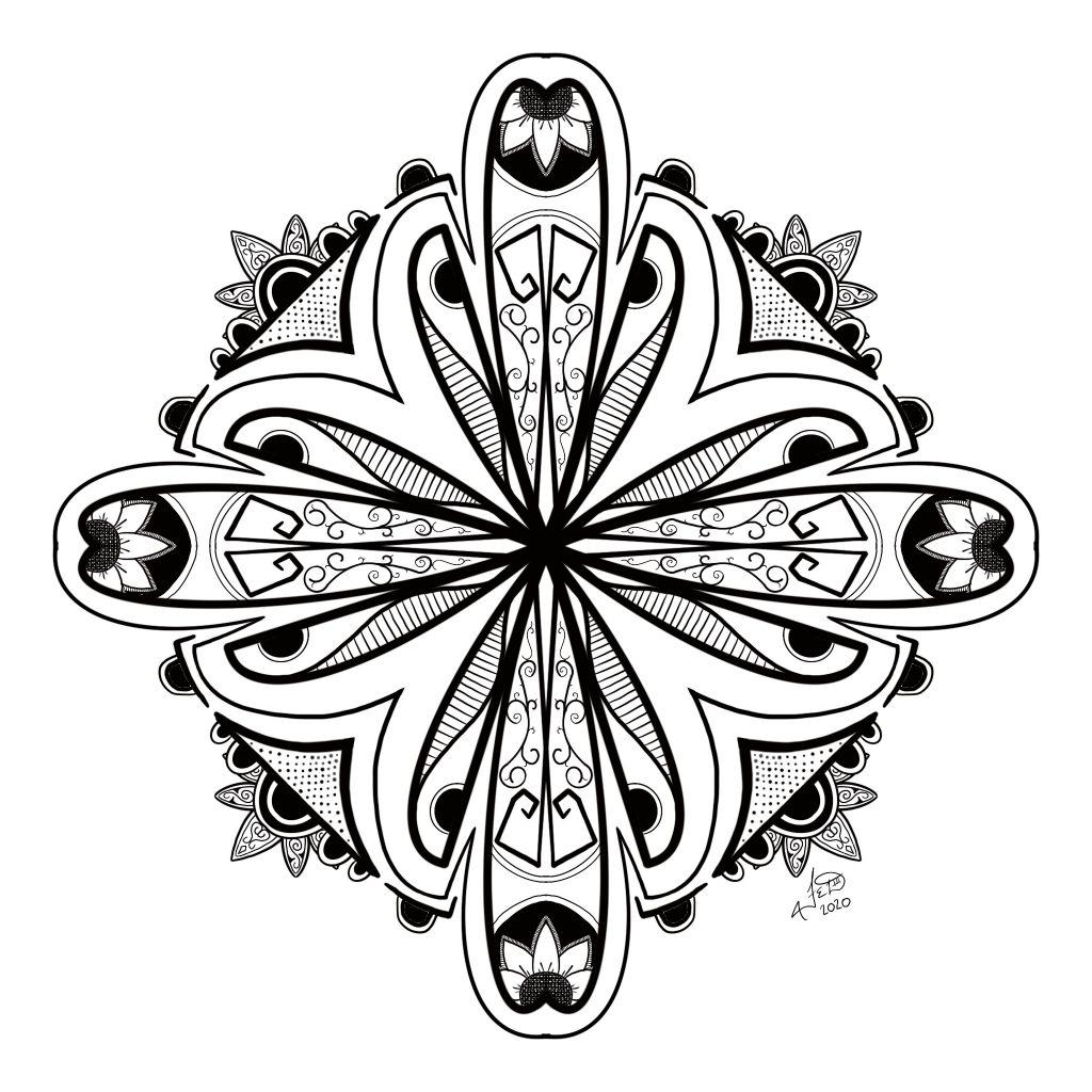 Floral Moth Doodle